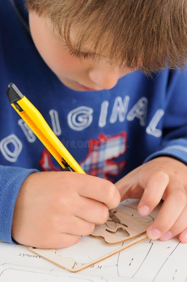 儿童手巧 免版税库存照片