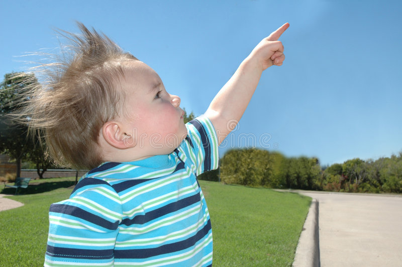儿童指向 免版税库存图片