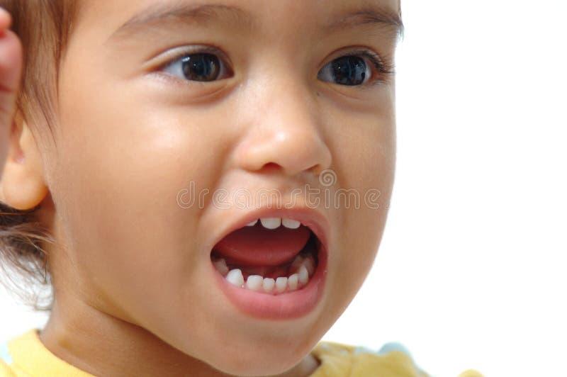 儿童收集表达式 免版税库存照片