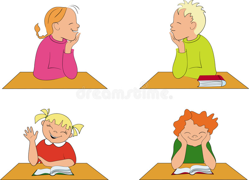 儿童教室学校 库存例证