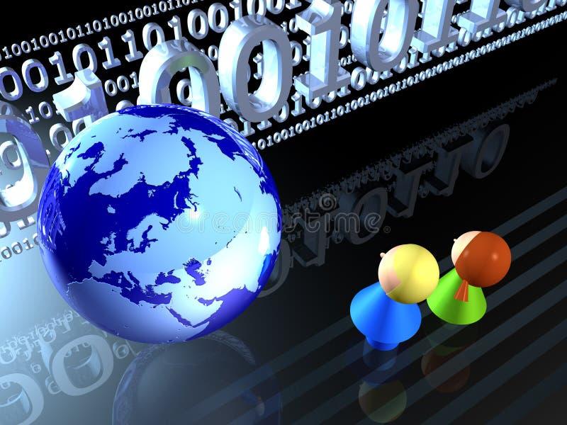 儿童数字式世界 免版税库存图片
