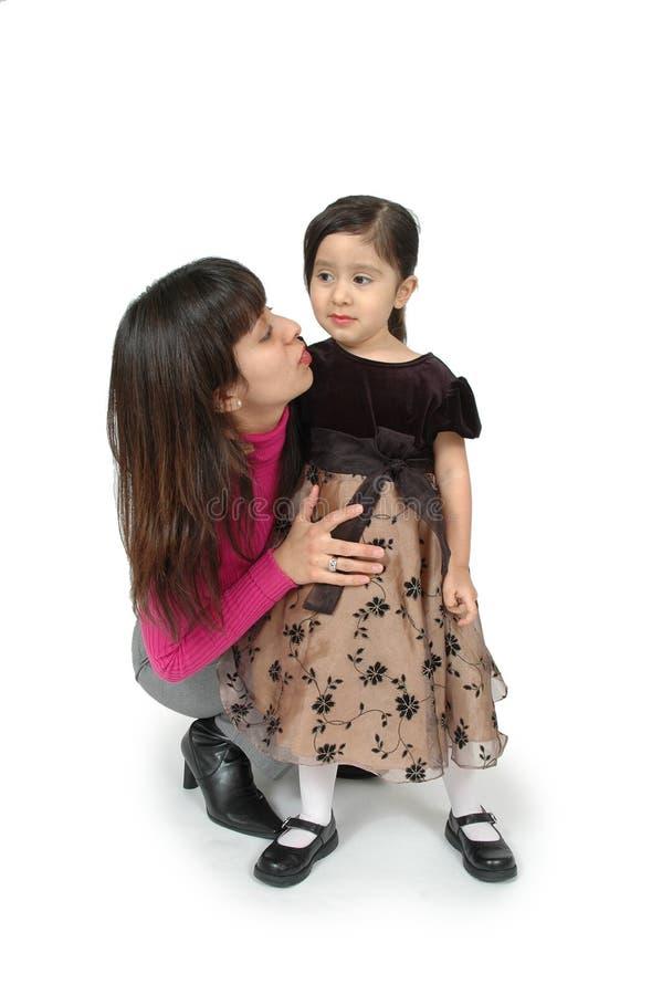儿童母亲谈话 库存照片
