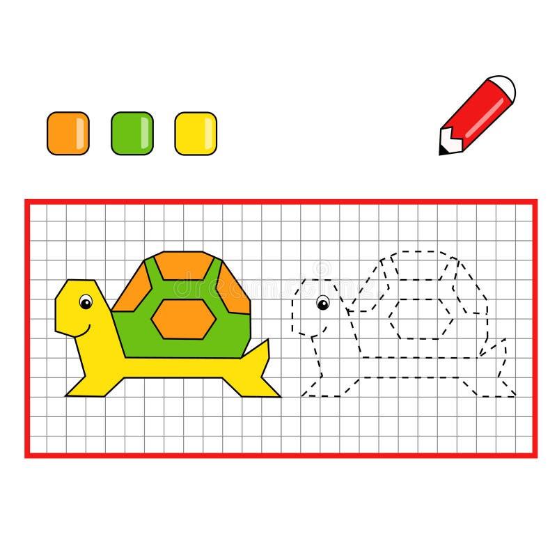 儿童比赛乌龟 库存例证