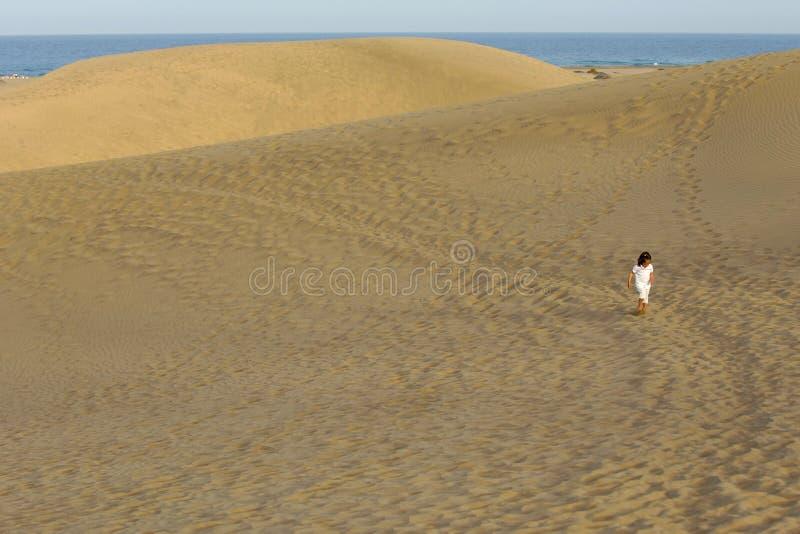 儿童沙漠 免版税库存图片