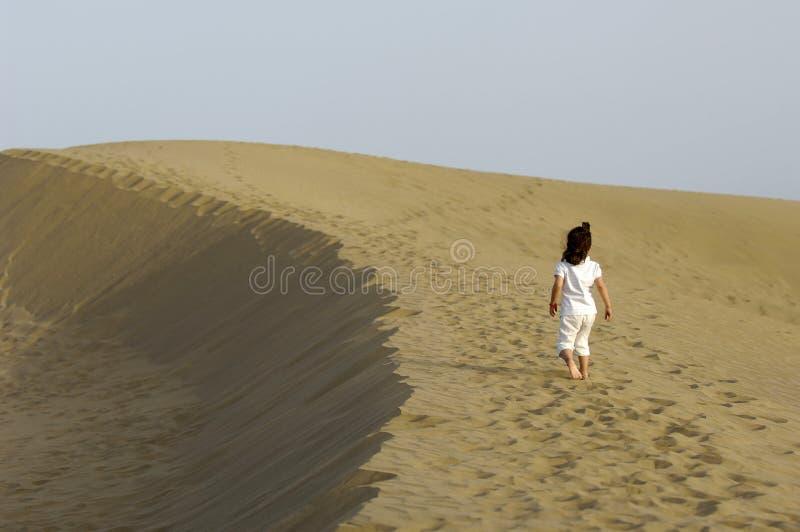 儿童沙漠 免版税库存照片