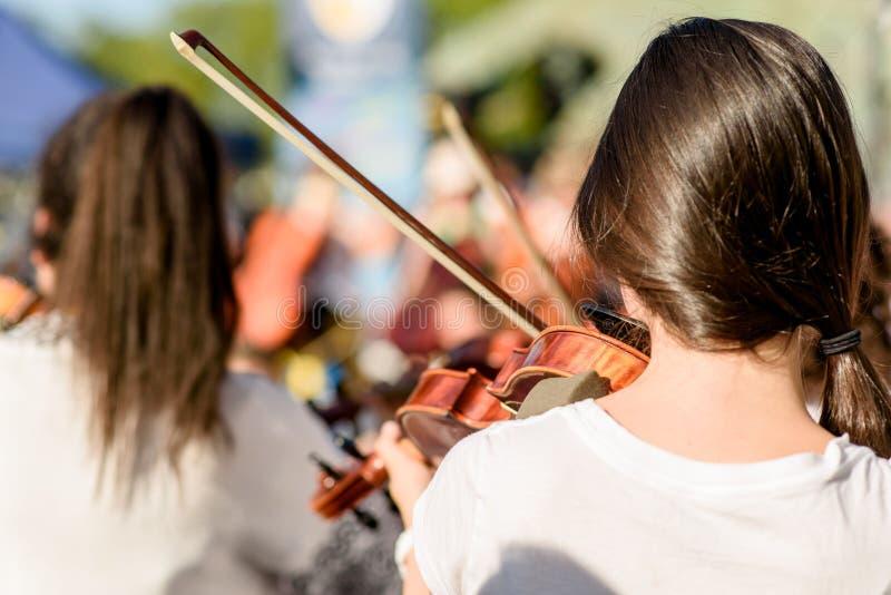 儿童游戏小提琴 库存照片