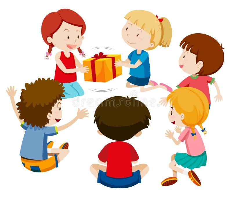 儿童游戏礼物比赛 皇族释放例证