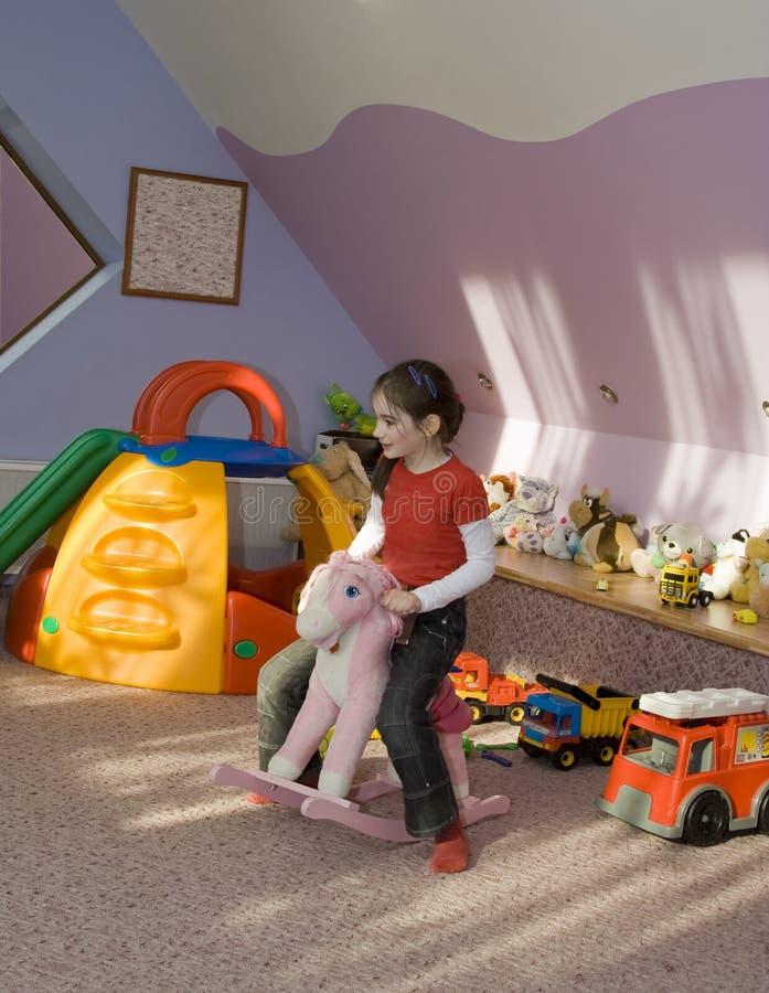 儿童游戏空间 免版税库存图片