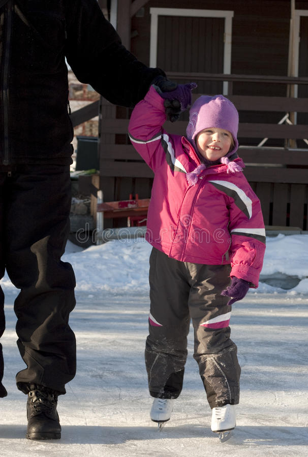 儿童滑冰 库存照片