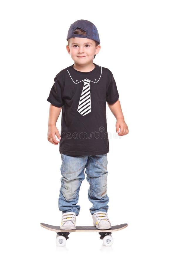 儿童滑板 免版税库存照片