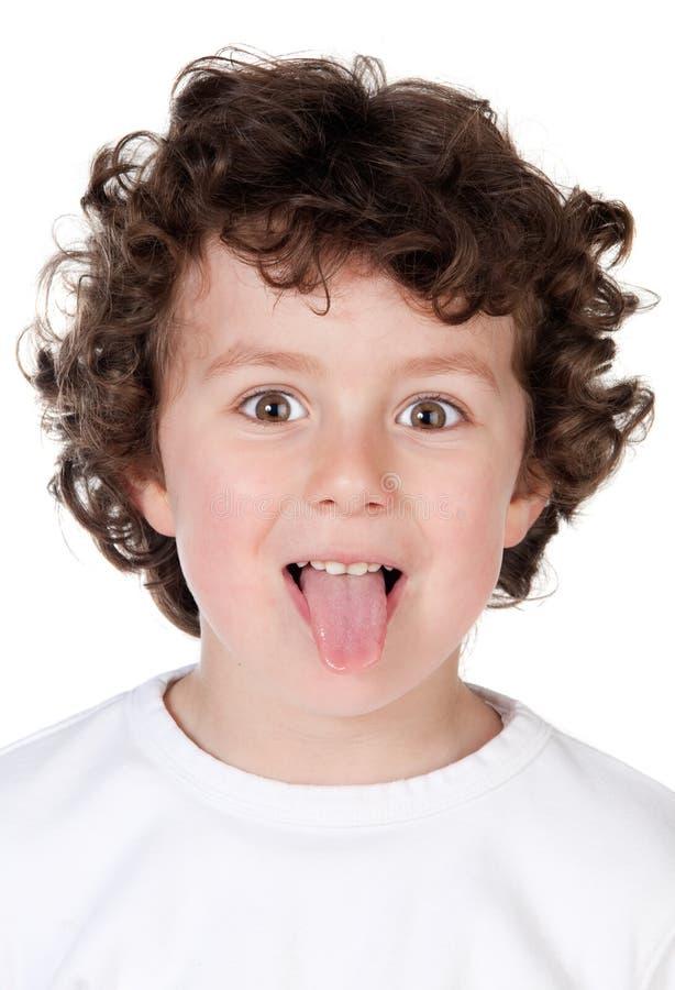 儿童滑稽嘲笑 免版税库存图片