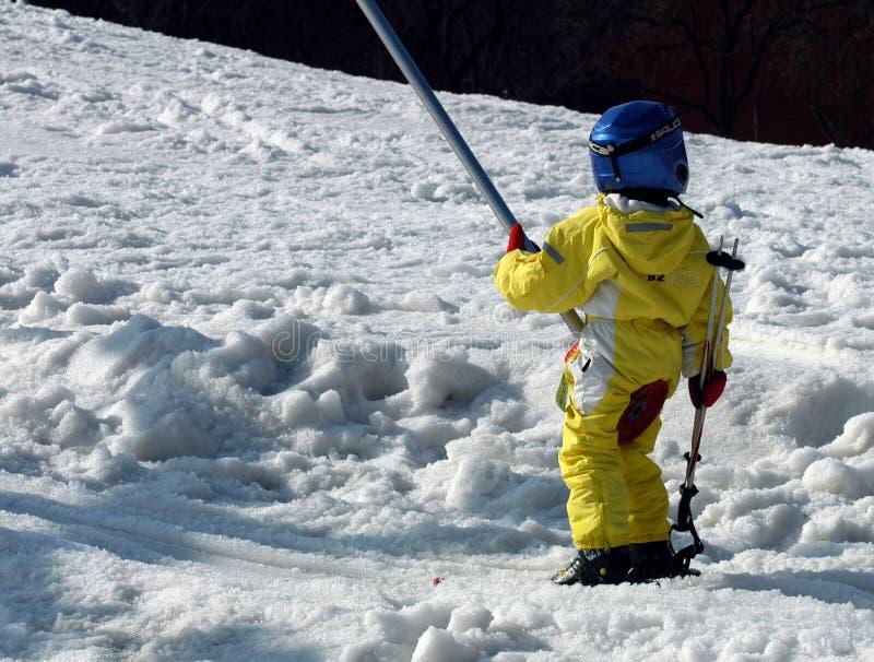 儿童滑雪者 库存图片
