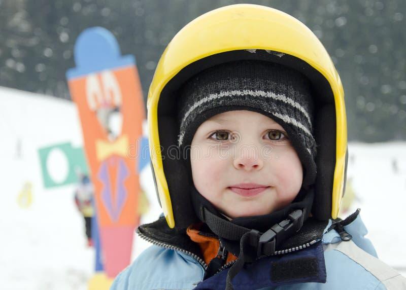 儿童滑雪者 免版税库存照片