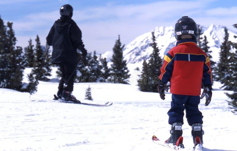 儿童滑雪者 图库摄影