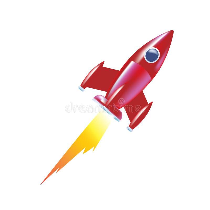 儿童火箭,腾飞  太空火箭发射,创造性的想法 库存例证