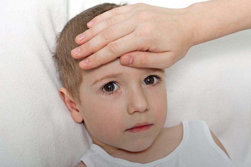 儿童热病 库存照片