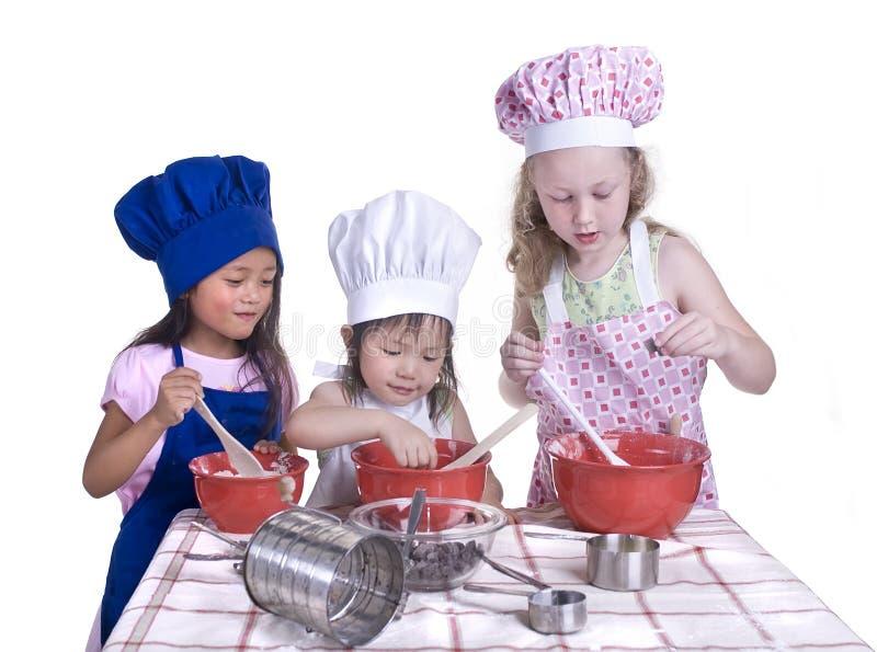 儿童烹调 库存照片