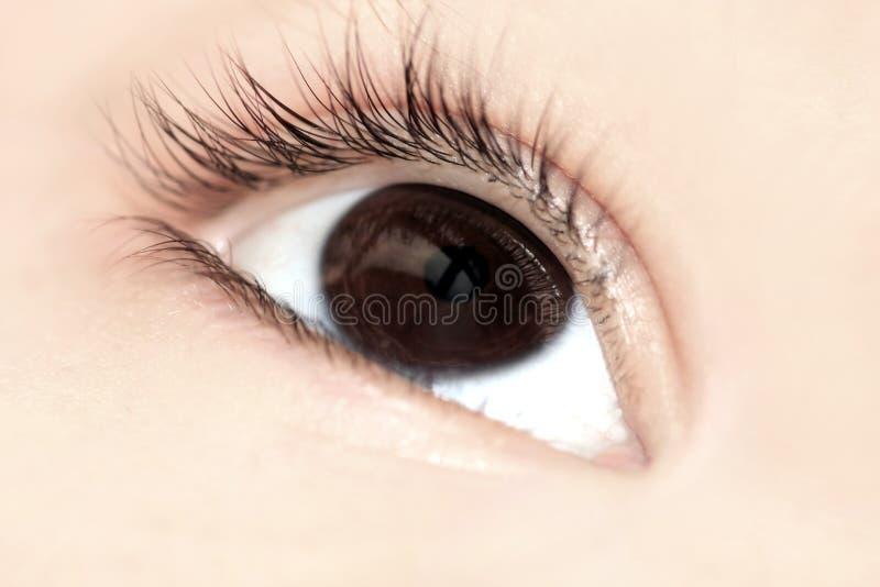 儿童特写镜头眼睛 图库摄影