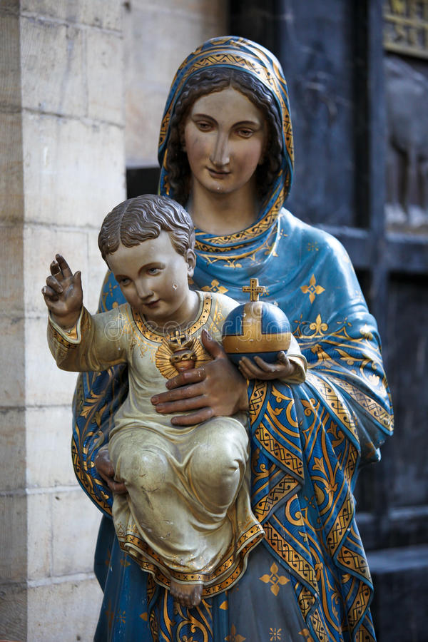 儿童玛丽母亲 库存图片