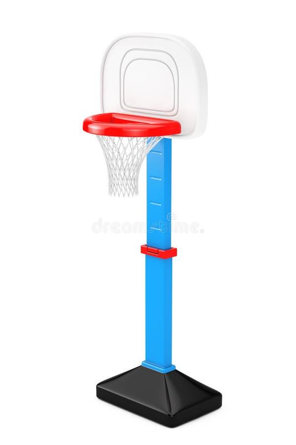 儿童玩具与网的篮球圆环 3d翻译 向量例证