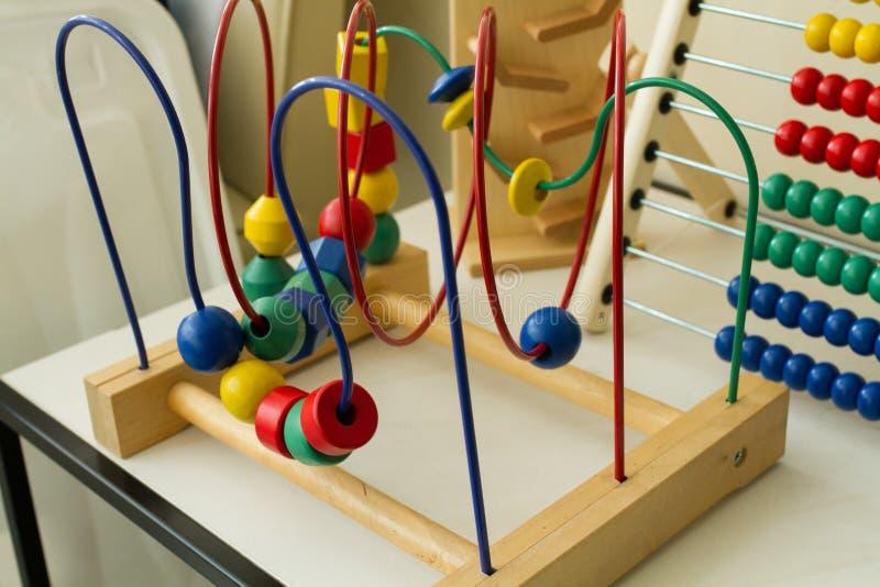 儿童玩具在shabu房子里 免版税库存照片