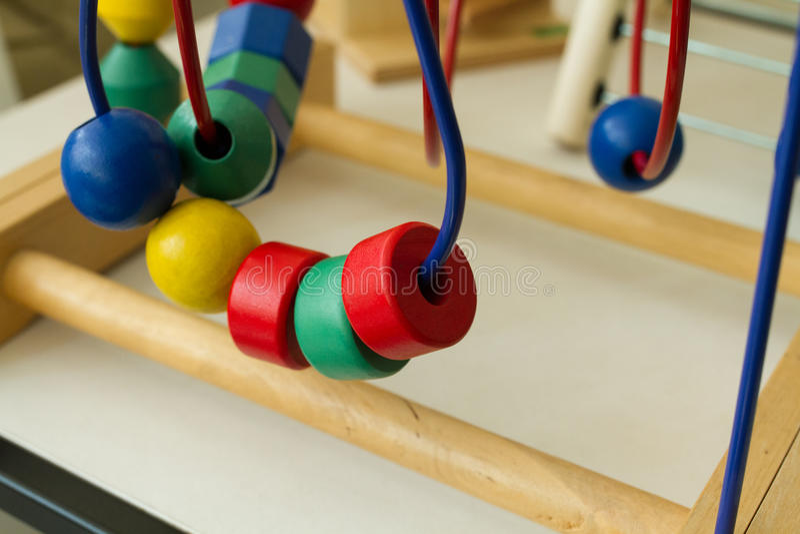 儿童玩具在shabu房子里 免版税库存图片