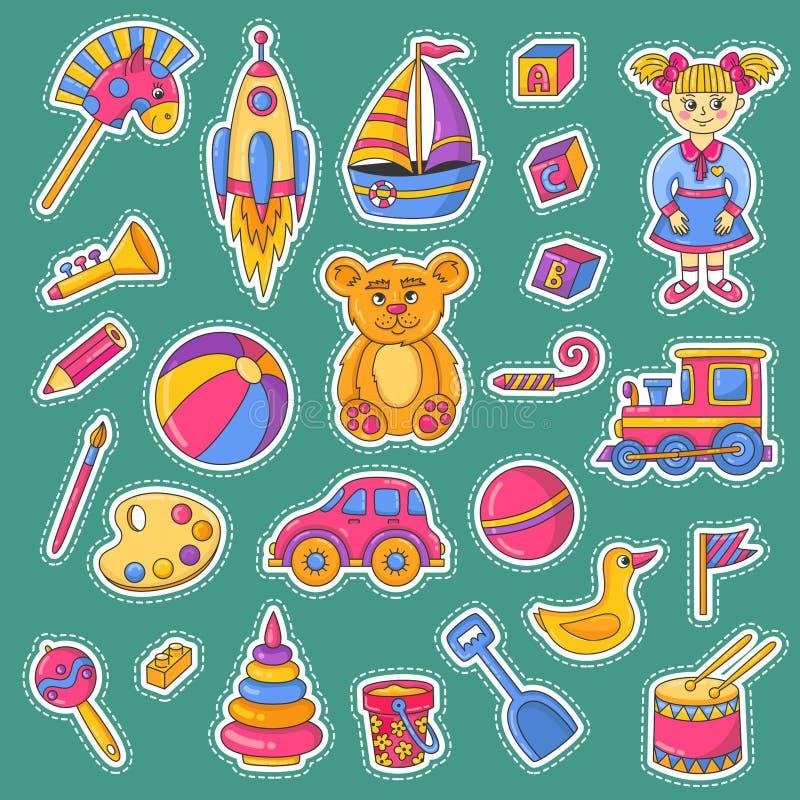 儿童玩具象vecto集合 向量例证