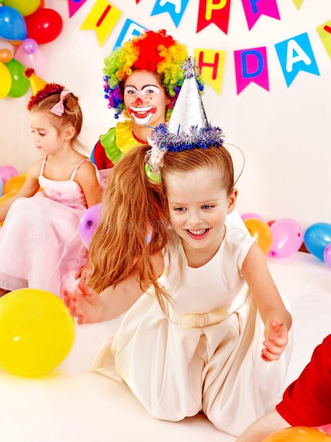 儿童生日聚会。 库存照片