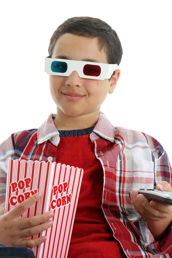 儿童电影注意 免版税库存照片