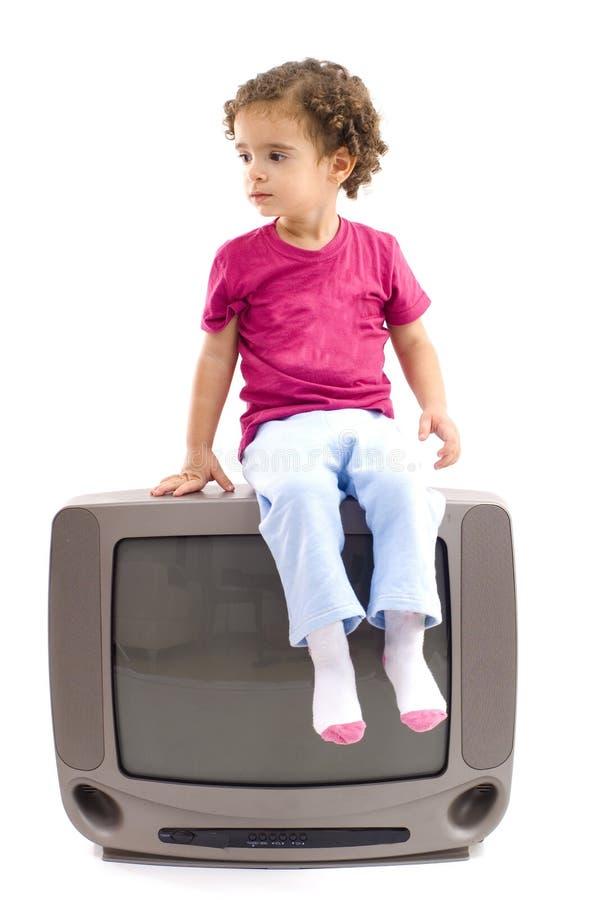 儿童电视 库存照片