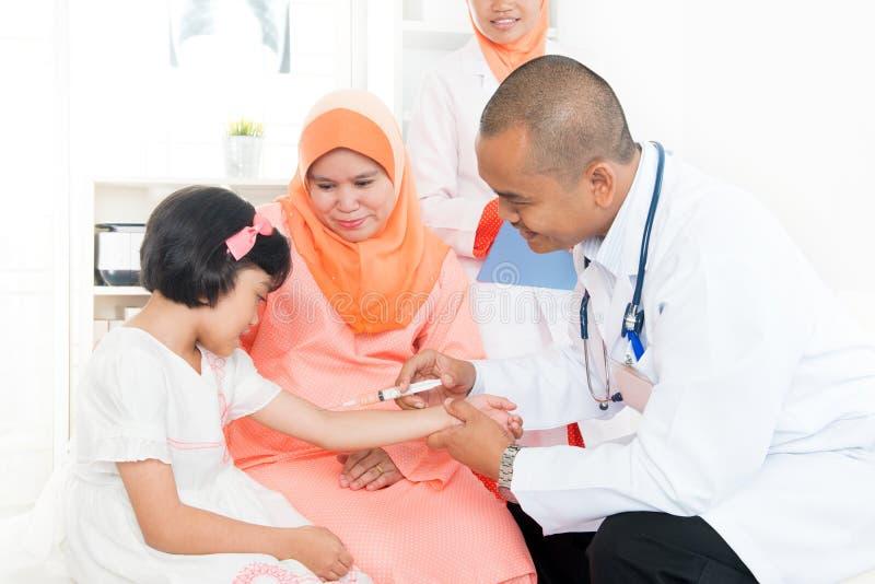 儿童疫苗概念 库存照片