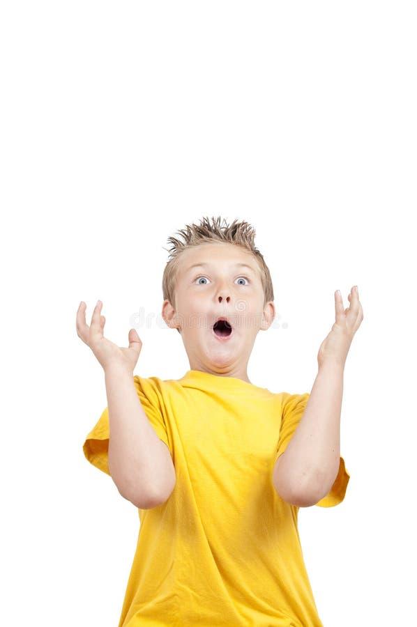 儿童疯狂做鬼脸 免版税库存照片