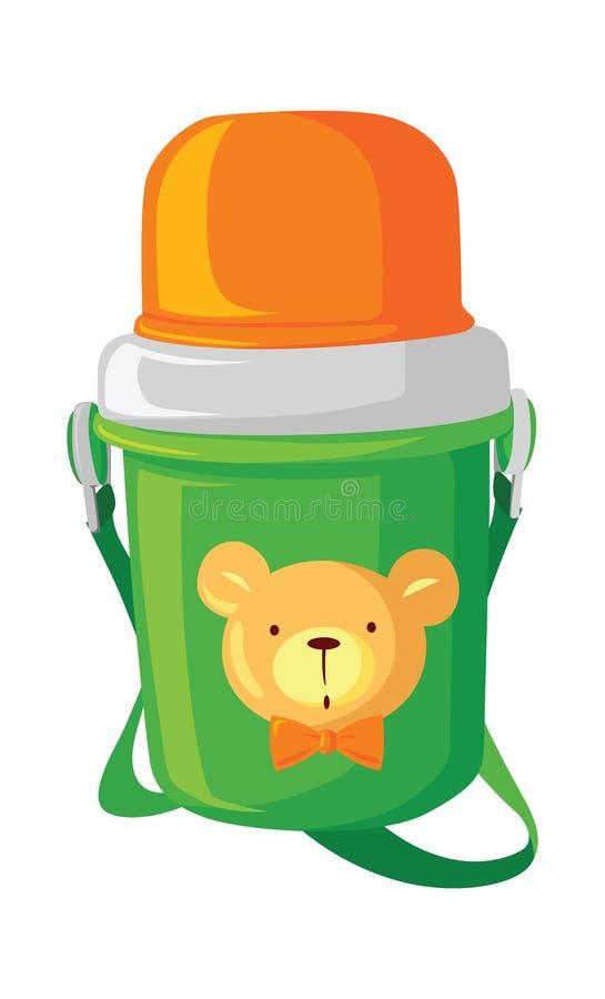 儿童的保温瓶 皇族释放例证