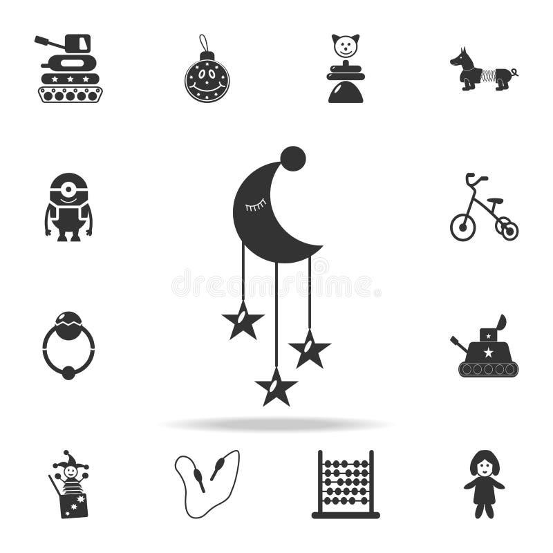 儿童的尿布,在小儿床象的一个玩具 详细的套婴孩戏弄象 优质质量图形设计 一收集 向量例证