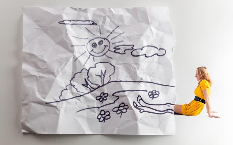 儿童的梦想。 免版税库存照片