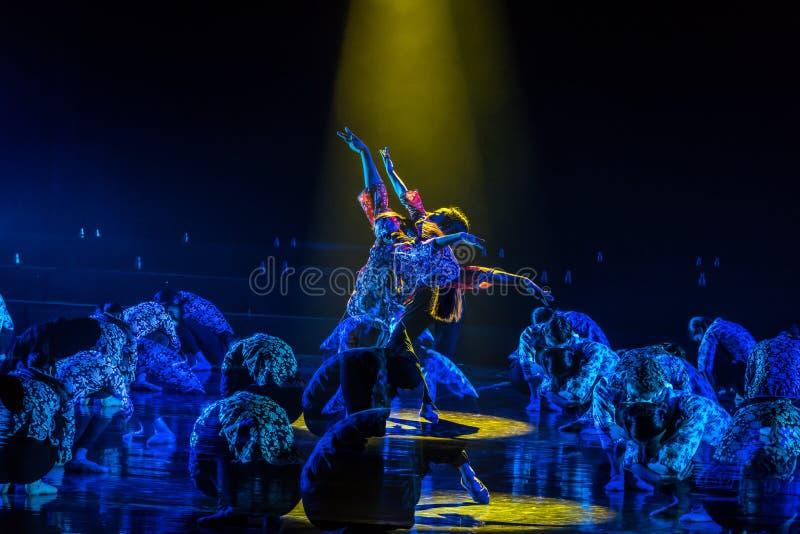 儿童的梦想2丁香舞蹈戏曲 库存照片