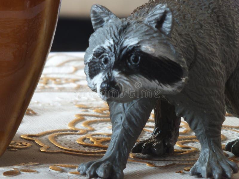 儿童的玩具动物在家 库存图片