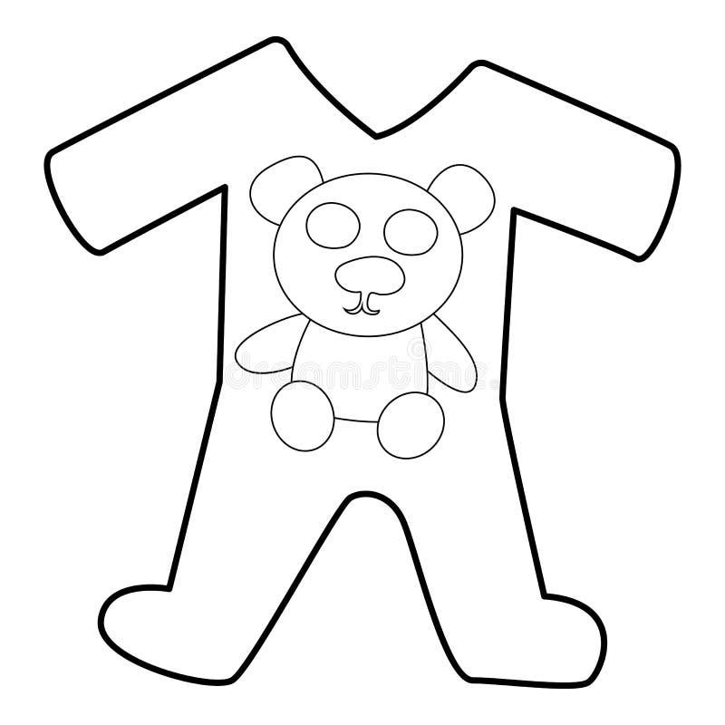 儿童的连裤外衣衣服象,等量3d样式图片
