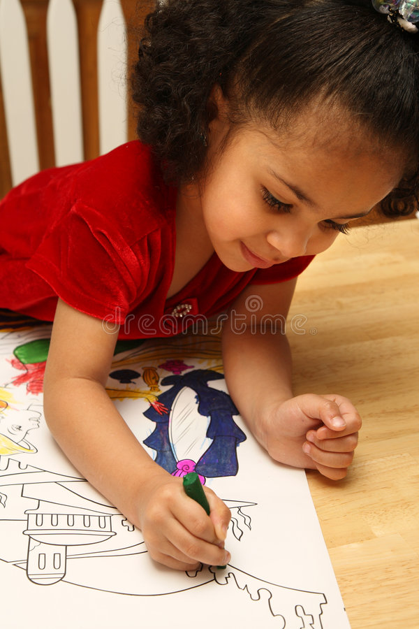 儿童着色 图库摄影