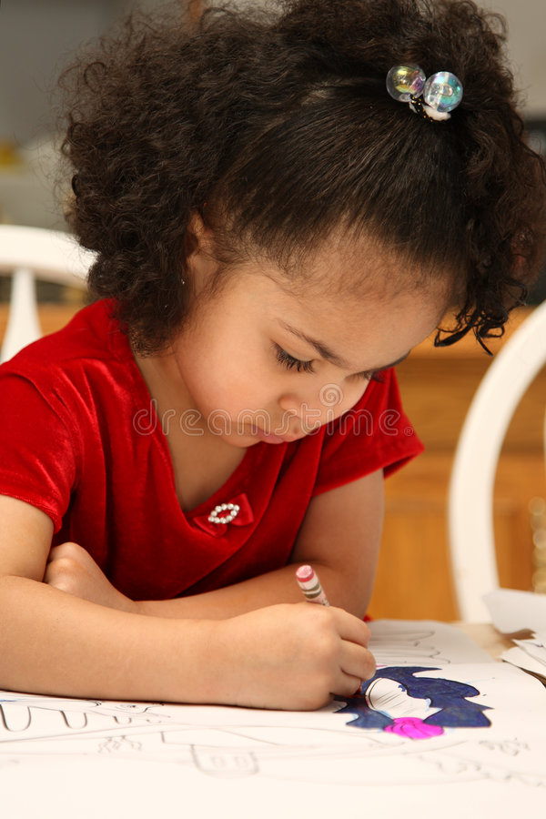 儿童着色 免版税图库摄影