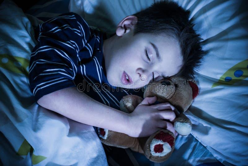儿童睡眠 库存照片