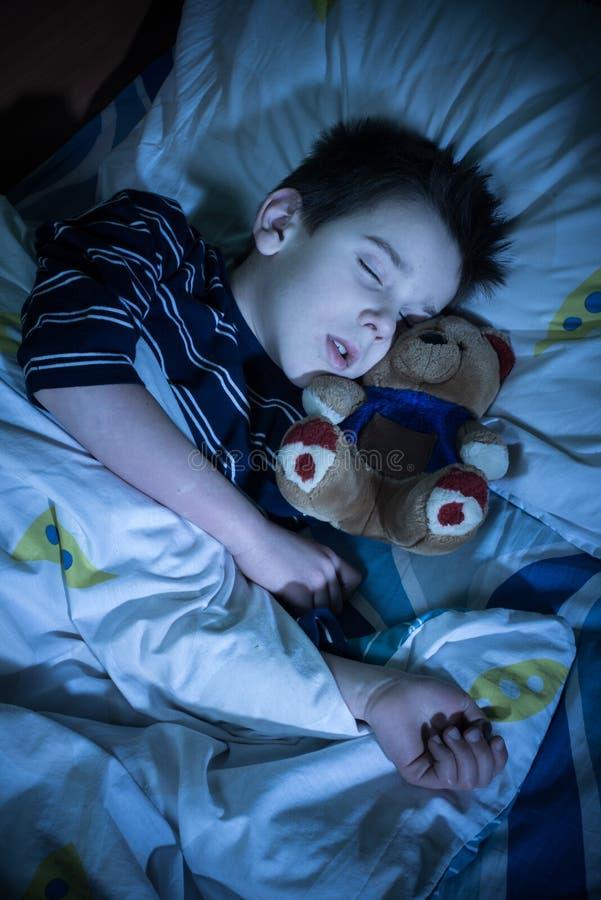 儿童睡眠 免版税库存图片