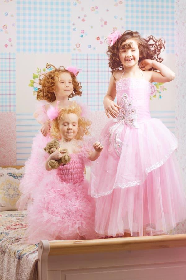 儿童礼服苗圃粉红色 免版税库存图片