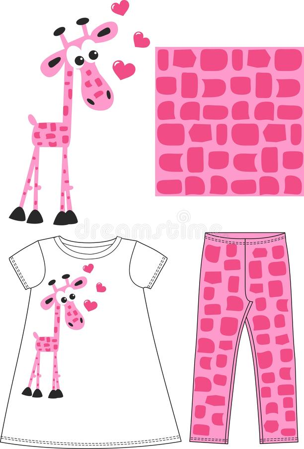 儿童穿戴的样式 库存例证