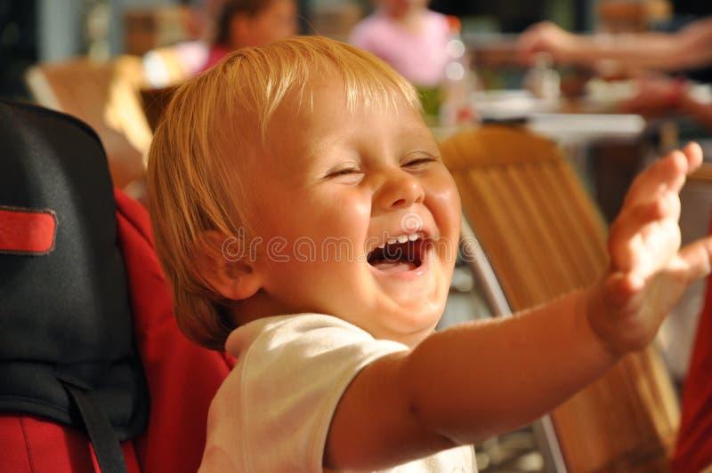 儿童笑 库存照片