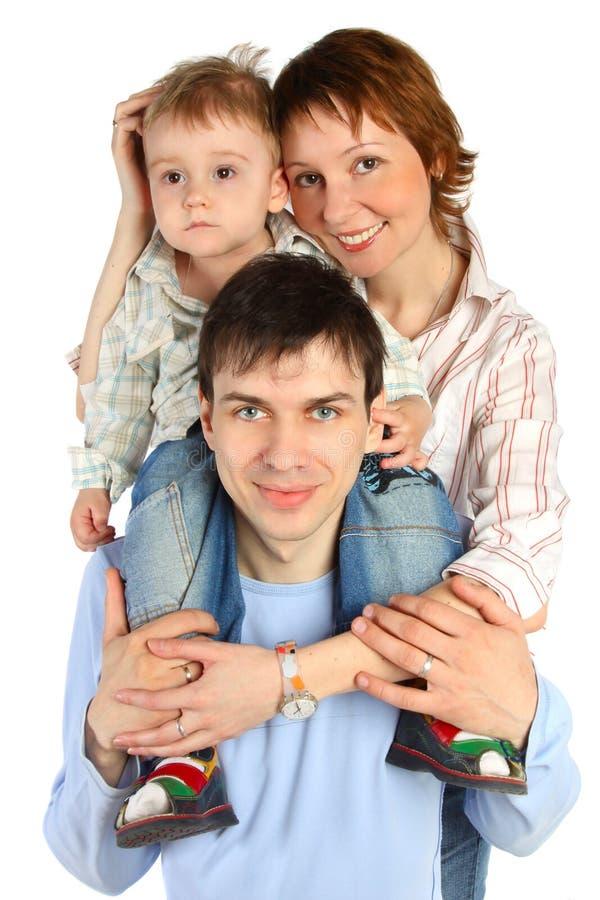 儿童系列父亲母亲微笑 库存照片