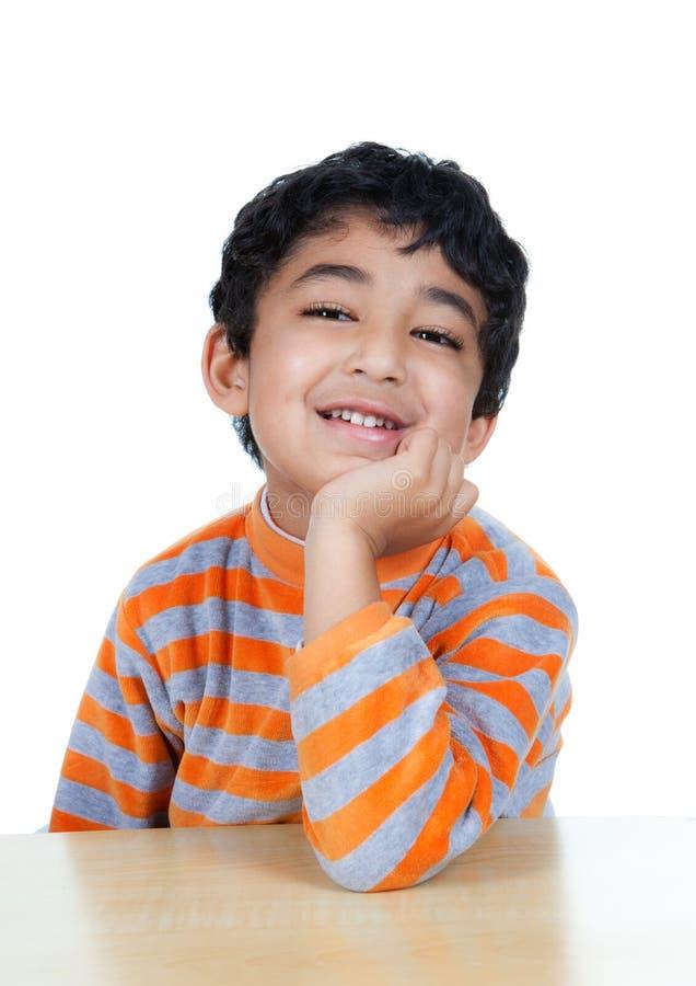 儿童纵向微笑 免版税图库摄影