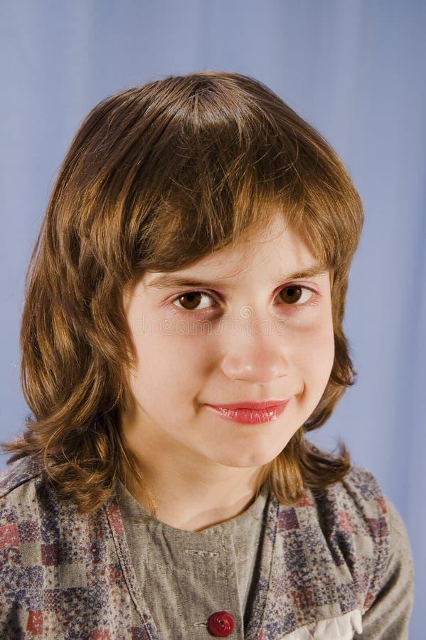 儿童纵向 免版税库存图片