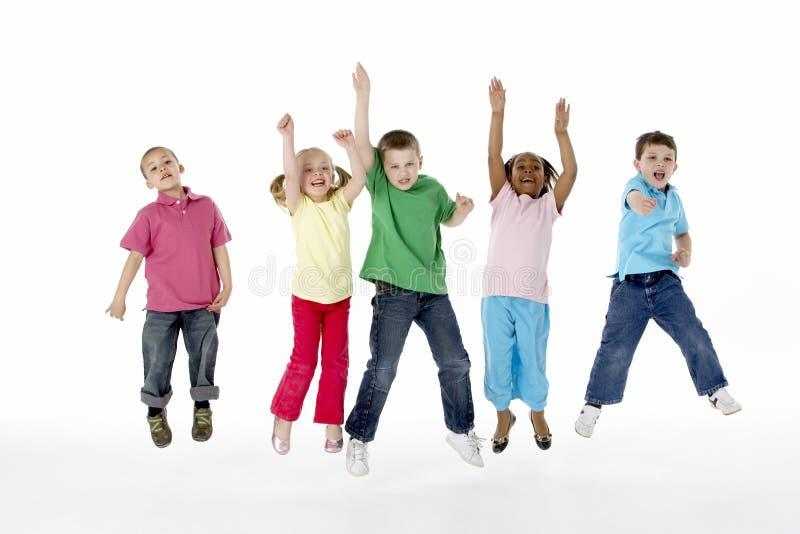 儿童组工作室年轻人 库存照片