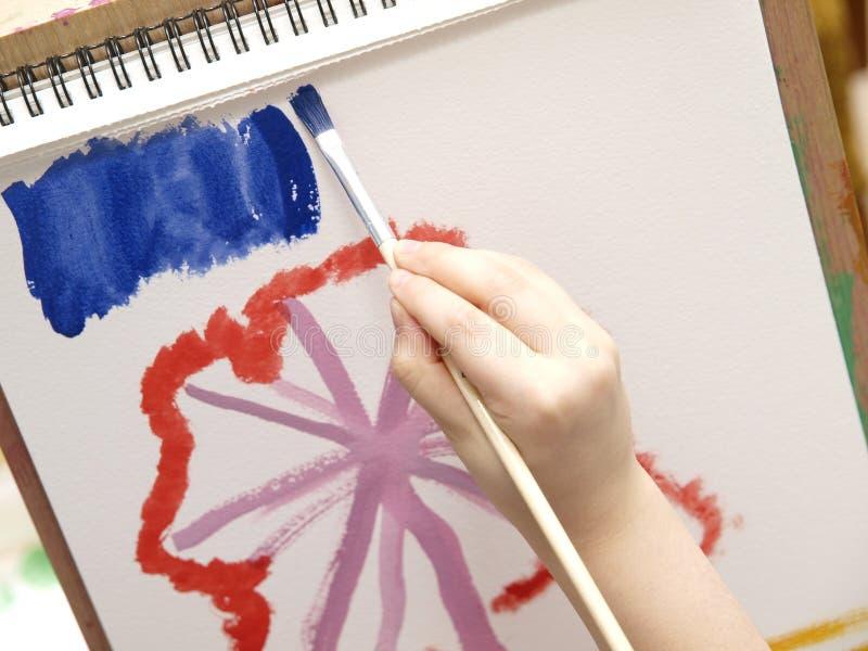 儿童绘画 免版税图库摄影
